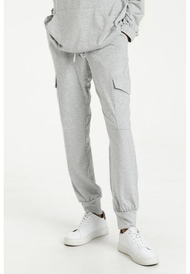 KASIGGI LINDA PANTS - Trainingsbroek - light grey melange