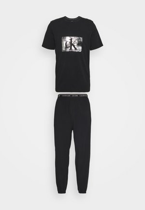 FOIL JOGGER SET - Pyjamas - black