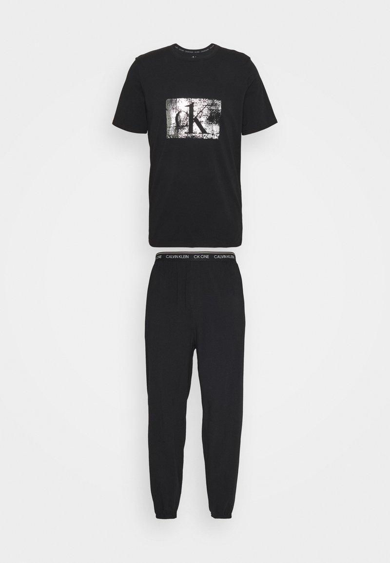 Calvin Klein Underwear - FOIL JOGGER SET - Pyjama set - black