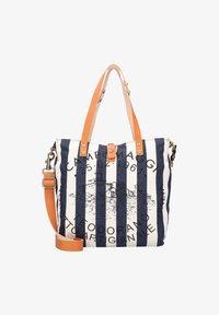 Campomaggi - Handbag - naturale-righe blu-st.nera - 0