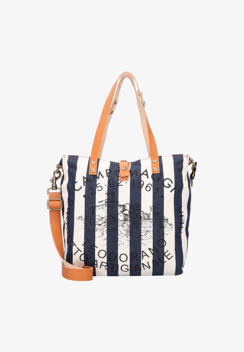 Campomaggi - Handbag - naturale-righe blu-st.nera
