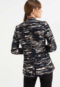 WE Fashion - MET STRETCH EN DESSIN - Blazer - black/white/ orange - 2