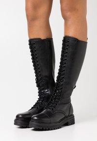 Tamaris - BOOTS - Botas con cordones - black - 0