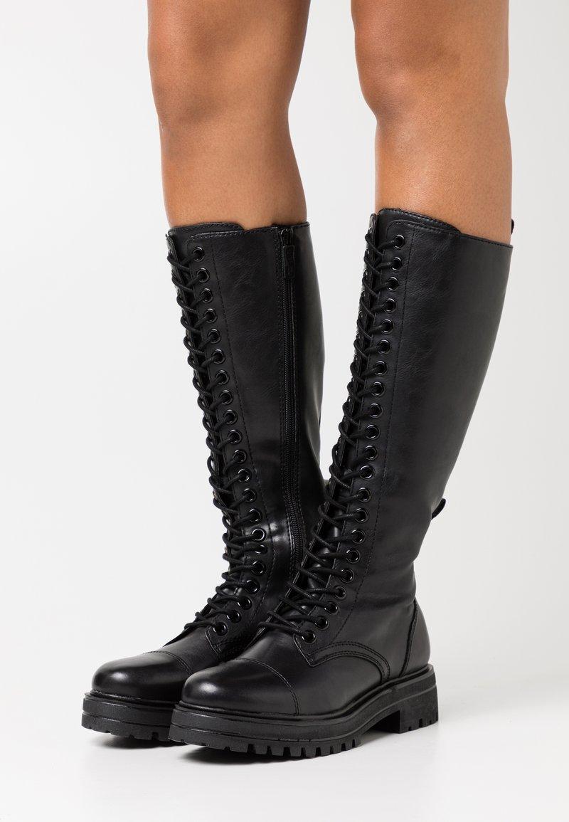Tamaris - BOOTS - Lace-up boots - black