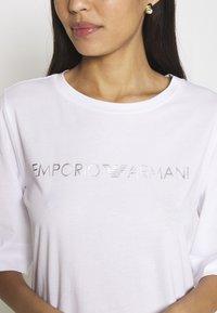 Emporio Armani - MAXI T-SHIRT - Nightie - white/silver - 4