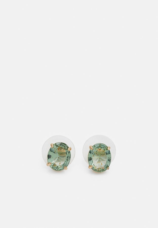 Boucles d'oreilles - gold-coloured/green