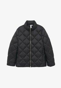 Mango - PIUMINO ROMBI - Winter jacket - nero - 5