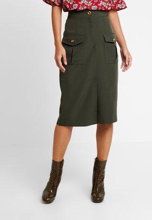 ULILITY PENCIL - Pencil skirt - khaki