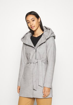 ONLCANE COAT - Kort kåpe / frakk - light grey melange