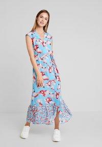 YAS - YASVAMILLA ANKLE DRESS  - Maxi dress - bonnie blue/vamilla - 2