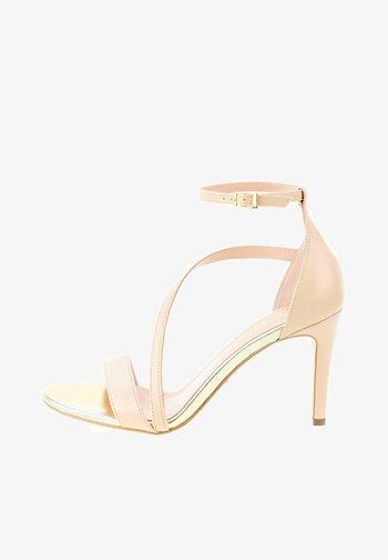 QUAGLIETTO - Sandalen met hoge hak - beige