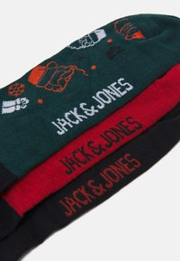 Jack & Jones - JACREINDEER SOCKS GIFTBOX 3 PACK - Socks - phantom/atlantic deep/bosso nova - 2