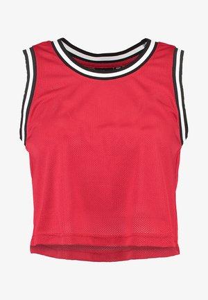LADIES CROPPED COLLEGE  - Débardeur - red/black/white