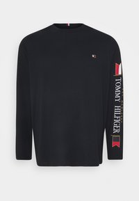 Tommy Hilfiger - MIRRORED FLAGS LONG SLEEVE - Long sleeved top - blue - 0