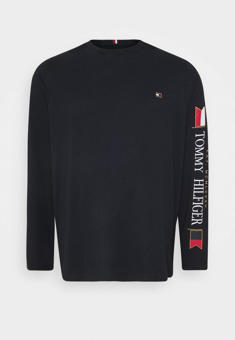Tommy Hilfiger - MIRRORED FLAGS LONG SLEEVE - Long sleeved top - blue