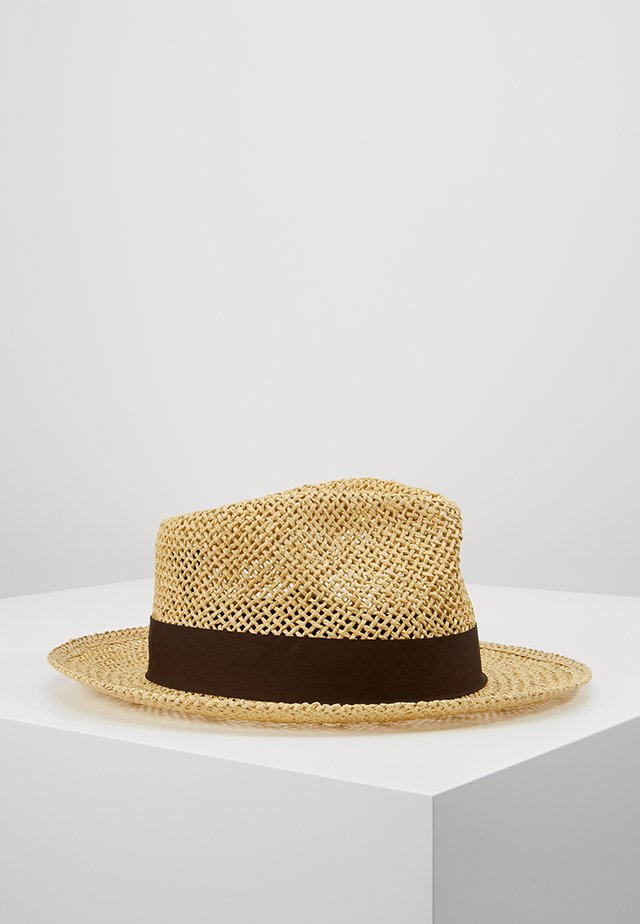 SWINDLE STRAW FEDORA - Chapeau - dark tan