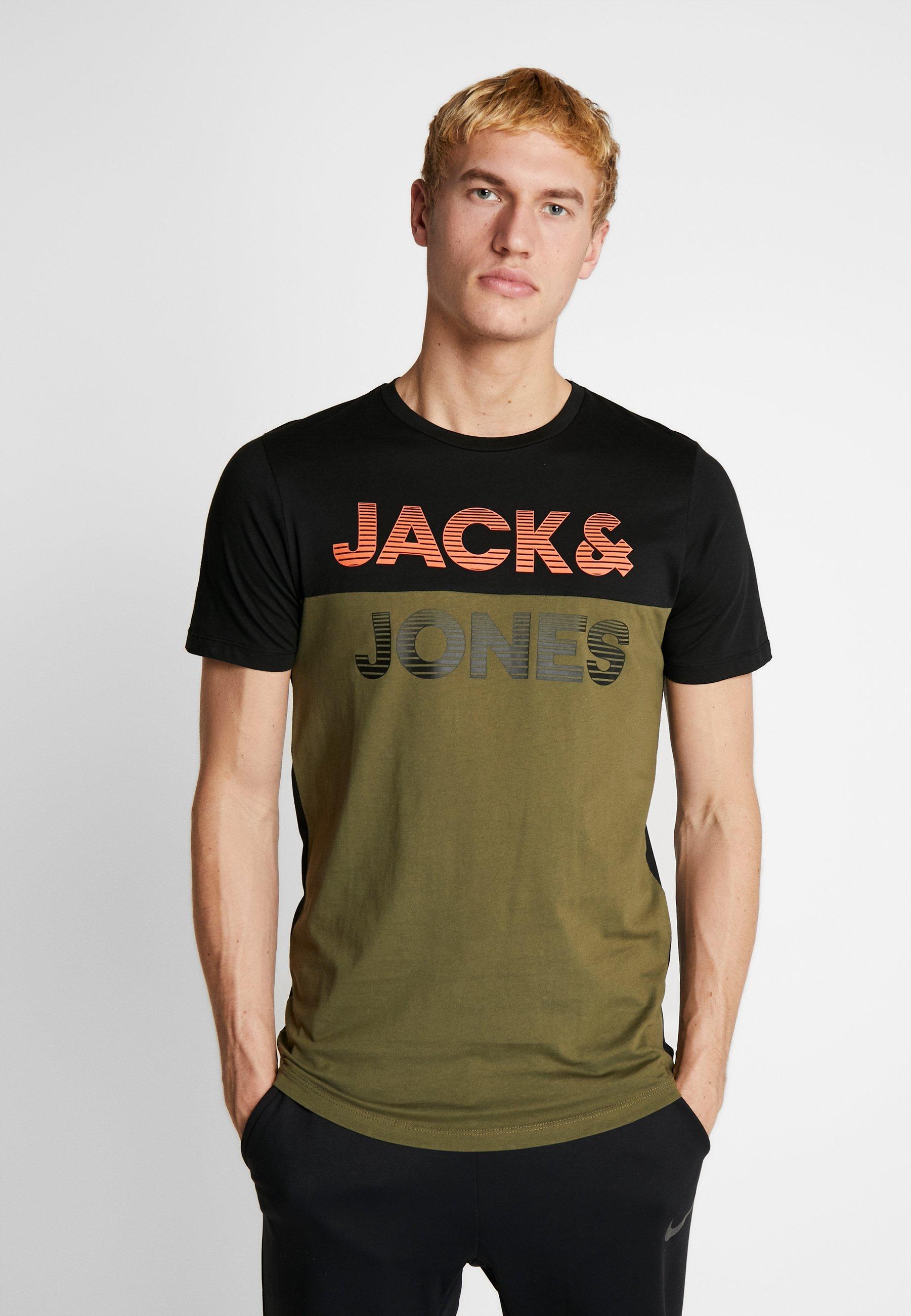 Men JCOMILLER TEE CREW NECK - Print T-shirt