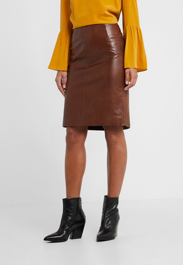 HANNA PENCIL SKIRT - Pencil skirt - brown