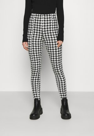 SARAH - Leggings - Trousers - white/black