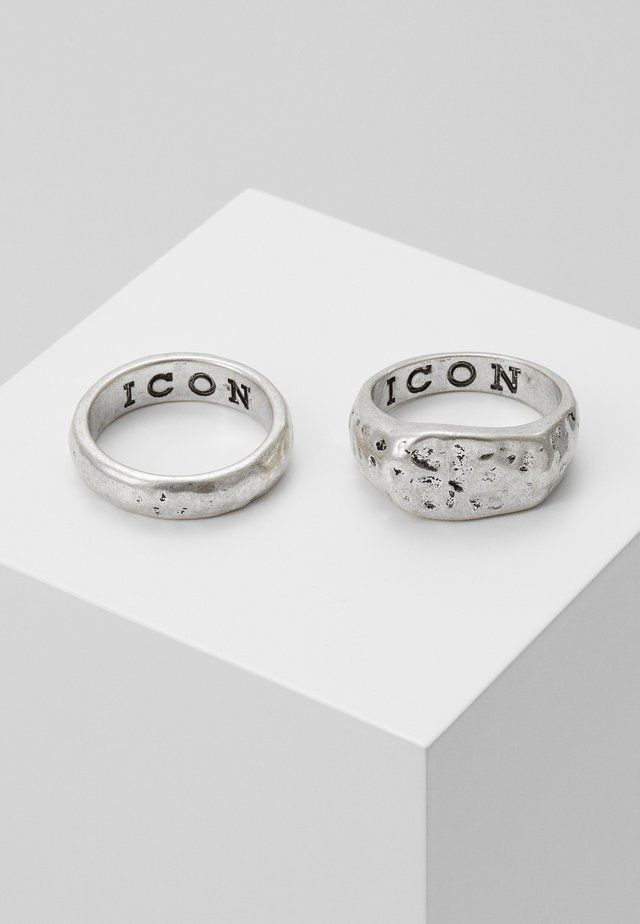 MOON ROCK 2 PACK - Anillo - silver-coloured