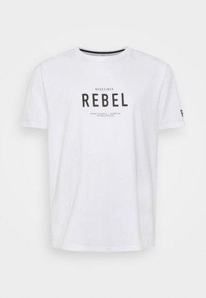 RONAN TEE - Print T-shirt - white