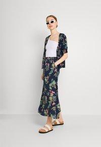 Vero Moda - VMSIMPLY EASY SKIRT - Maxi skirt - navy blazer - 1