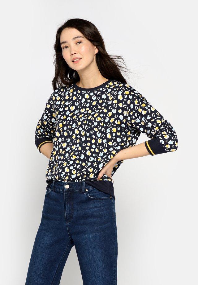 MIT RIPPSTRICK-BÜNDCHEN PRESLEY - Sweatshirt - french navy blue