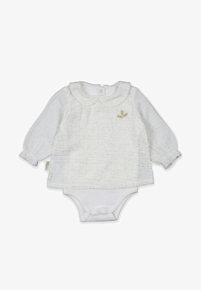 Muslin Patterned Baby Collar Bodysuit (0 to 3 years) - Body - ecru
