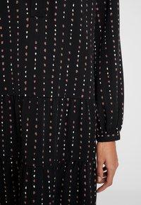 Esprit - TIERED HEM DRESS - Skjortklänning - black - 6