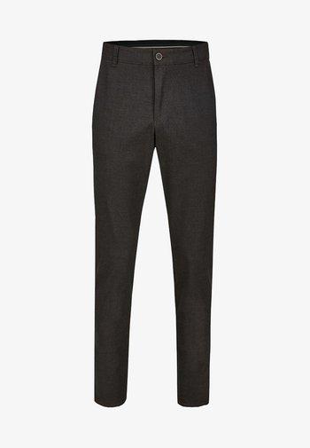 GARVEY IM WOLL LOOK - Trousers - dark grey