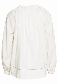 Proenza Schouler - PRINTED GEORGETTE LONG SLEEVE TIE NECK BLOUSE - Blouse - off white - 1