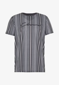 CLOSURE London - STRIPE HERRINGBONE TEE - T-shirt con stampa - grey - 3
