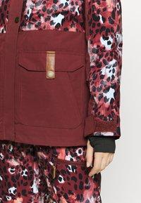 Roxy - ANDIE - Snowboard jacket - oxblood/red leopold - 4