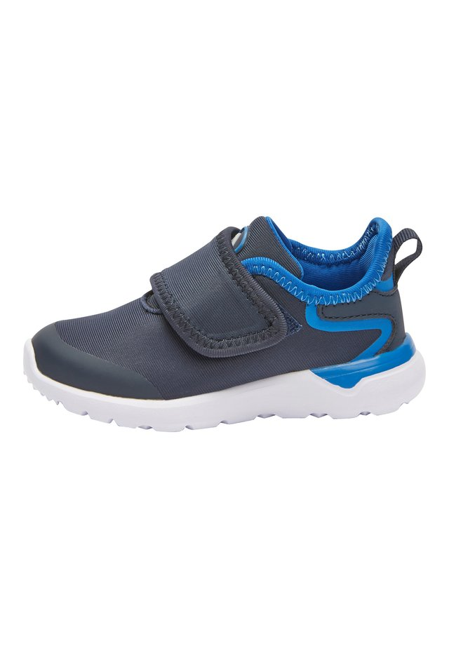 BLACK SINGLE STRAP TRAINERS (YOUNGER) - Sko med burretape - blue