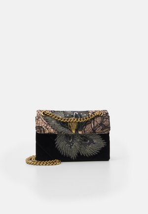 FABRIC MINI KENSINGTON  - Across body bag - black/beige