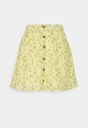 ONLPELLA SHORT SKIRT - Mini skirt - sunshine/flowers