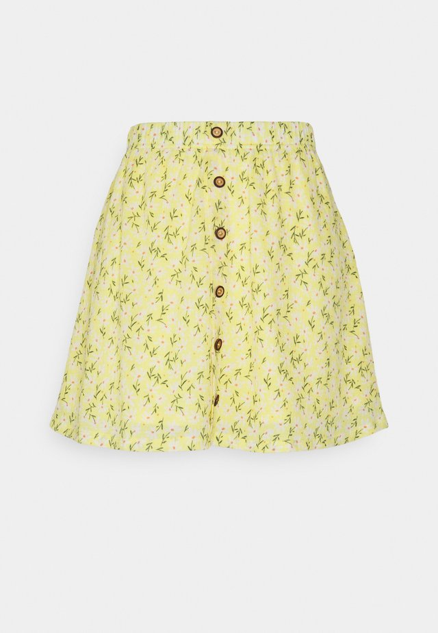 ONLPELLA SHORT SKIRT - Mini skirt - sunshine/flowers