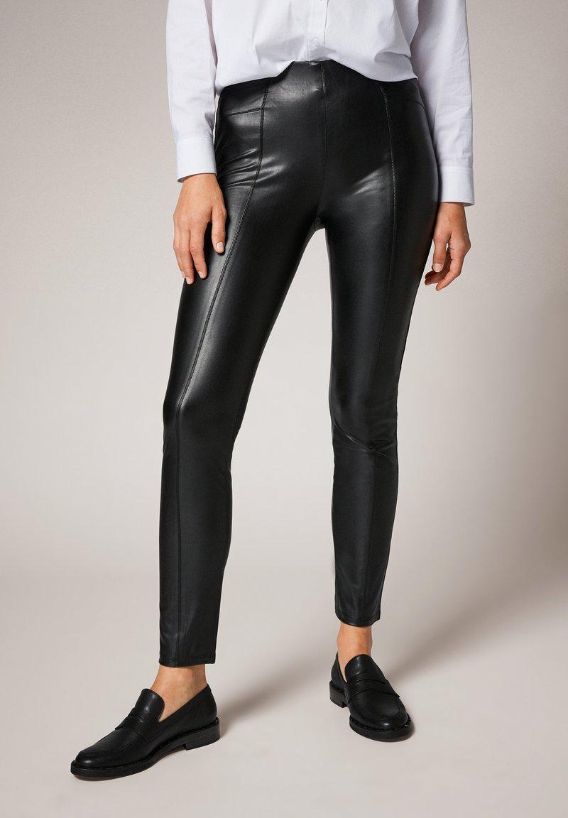 comma - Leggings - Trousers - black