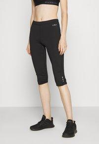 CMP - WOMAN PANT - 3/4 sportsbukser - black asphalt - 0