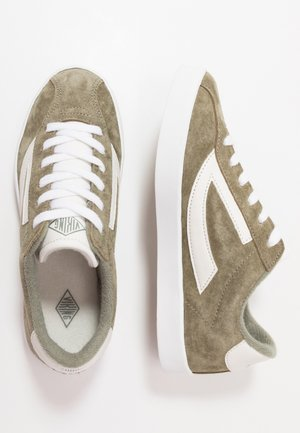 RETRO TRIM - Sports shoes - olive/eggshell