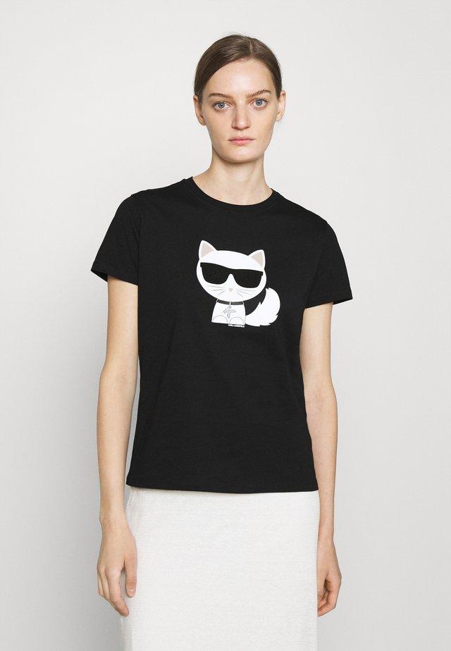 IKONIK CHOUPETTE - Print T-shirt - black