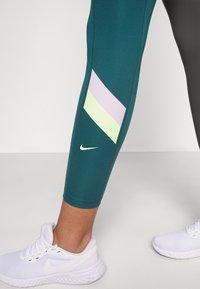 Nike Performance - ONE STRIPE 7/8  - Tights - dark teal green/lime glow - 3