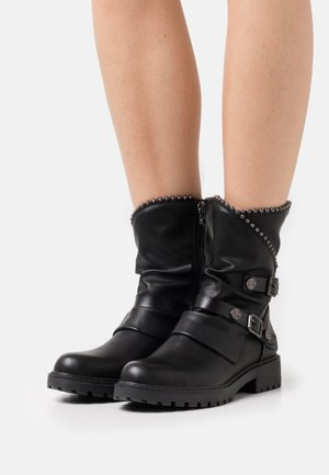 VEGAN RAMAYA - Cowboy/biker ankle boot - black local sheriff