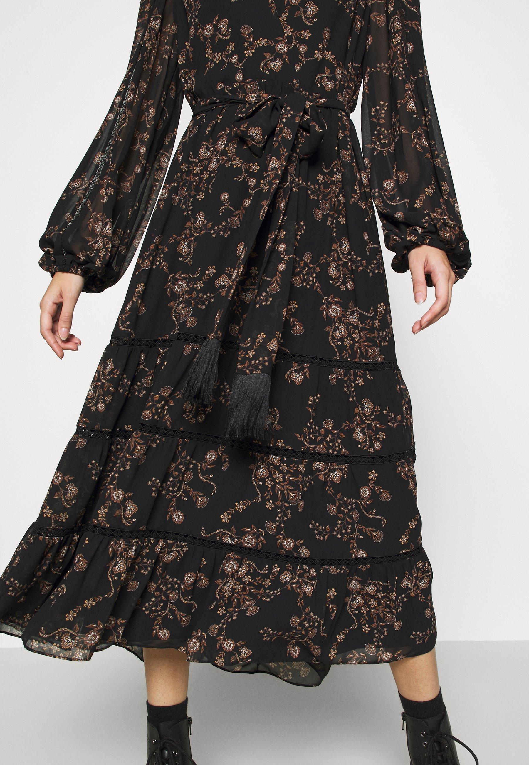 Forever New JULIA TIERED DRESS Maxikleid black/schwarz
