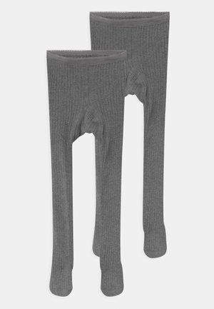 NKNPANTYHOSE 2 PACK UNISEX - Tights - dark grey melange