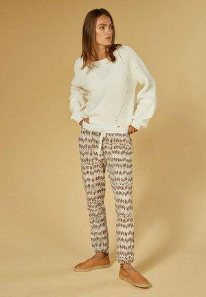 CROPPED SKELETON - Spodnie materiałowe - light safari