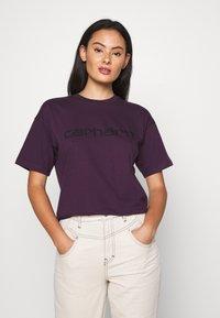 Carhartt WIP - SCRIPT - Print T-shirt - boysenberry/black - 3