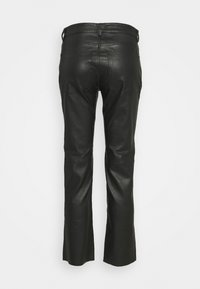 Samsøe Samsøe - ALANA TROUSERS - Leather trousers - black - 1