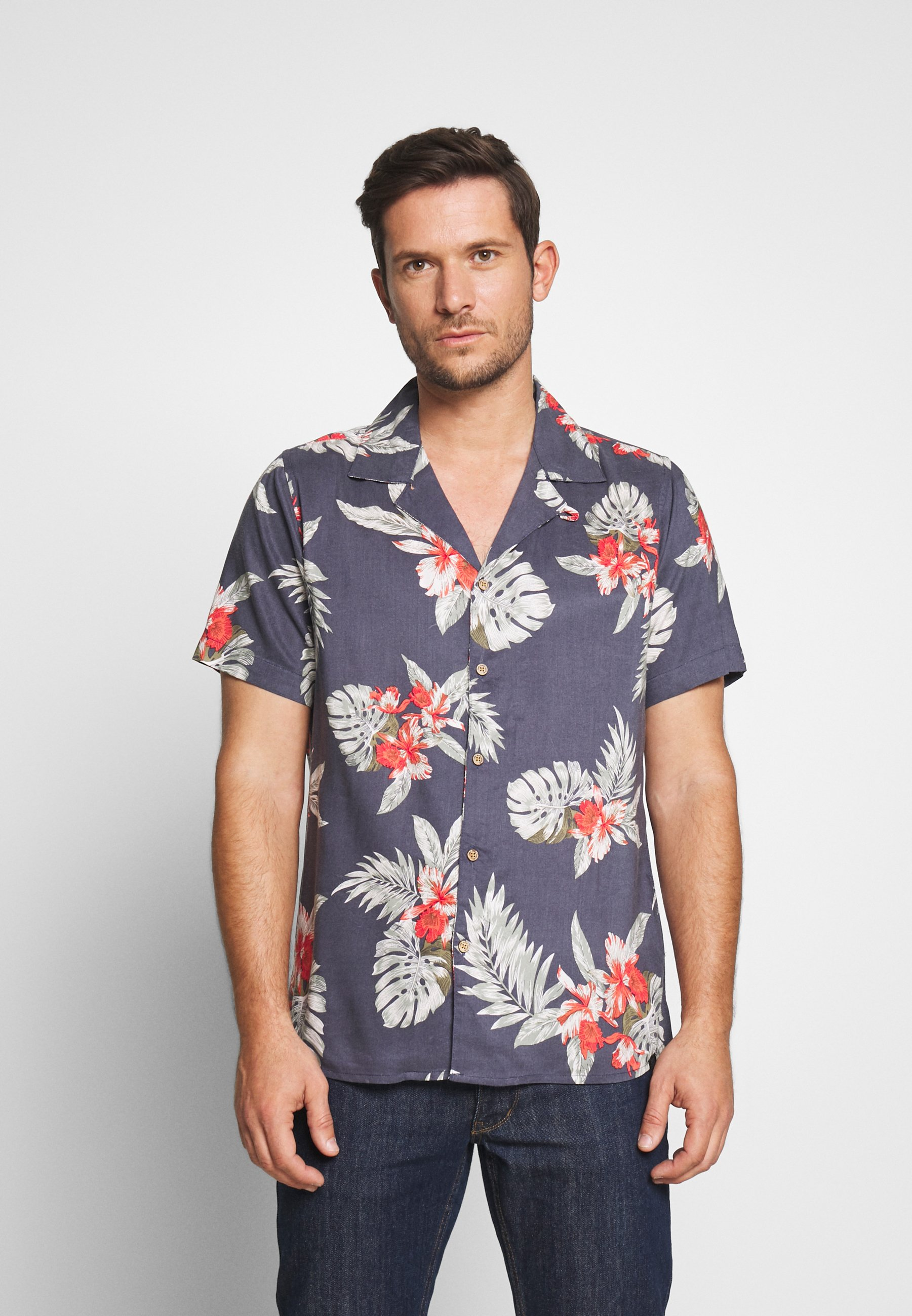 Esprit BIG HAWAII Skjorte white Zalando.no