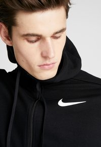 Nike Performance - DRY HOODIE  - veste en sweat zippée - black/white - 3